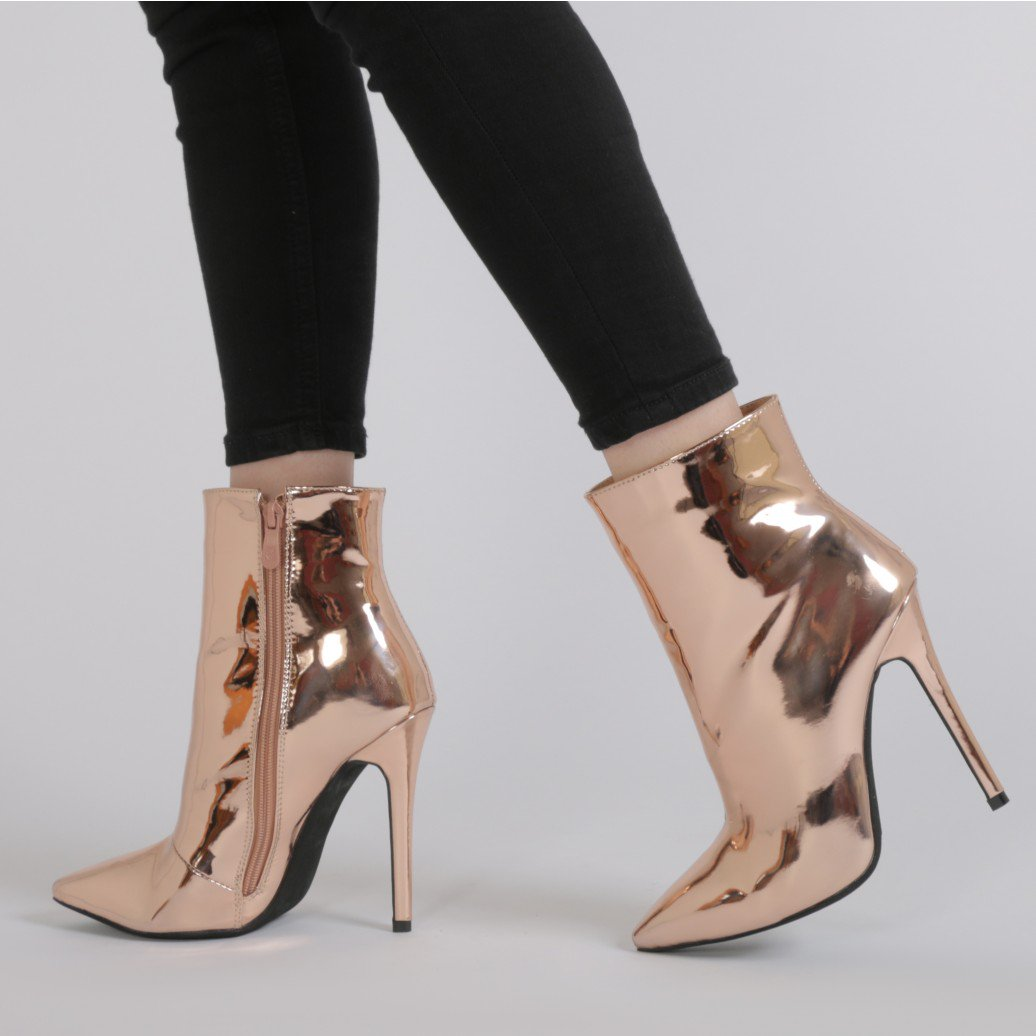 Gold Booties Heels e9cPWKmD