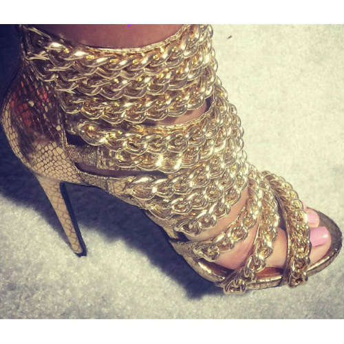 Gold Chain Heels gN74QLE4