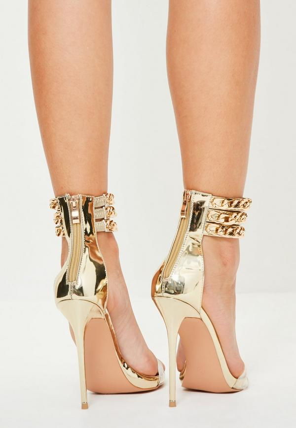 Gold Chain Heels rs81Dn9x