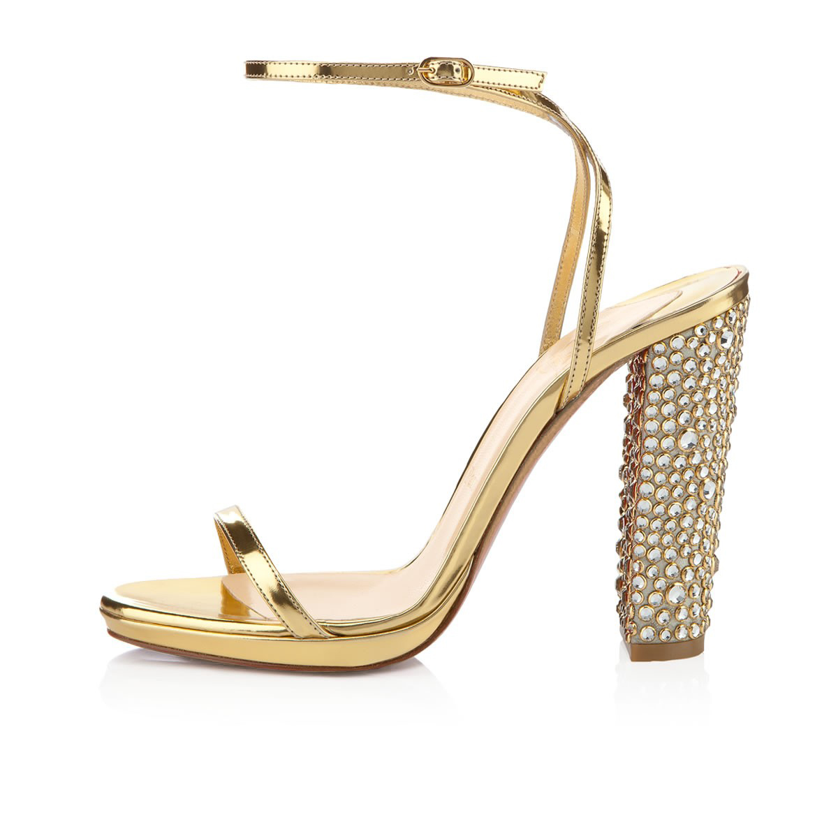 Gold Chunky Heel Shoes VJjX6ntH