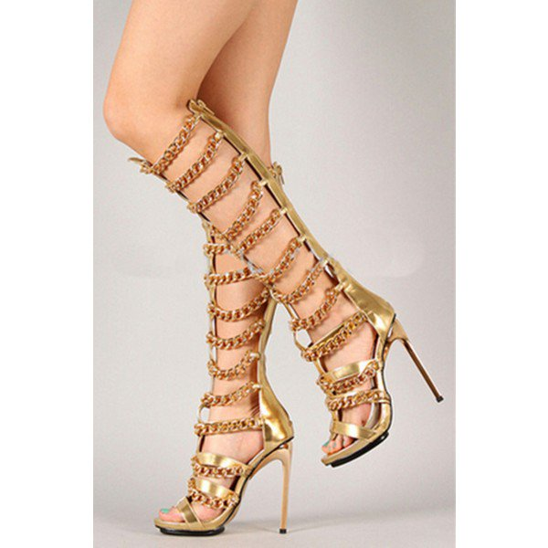 Gold Gladiator High Heels F14R6dCd