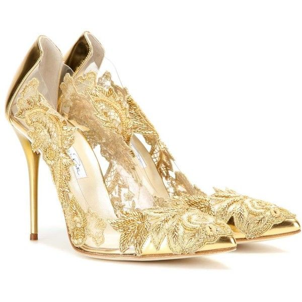 Gold Heel Pumps LYEaiOtE