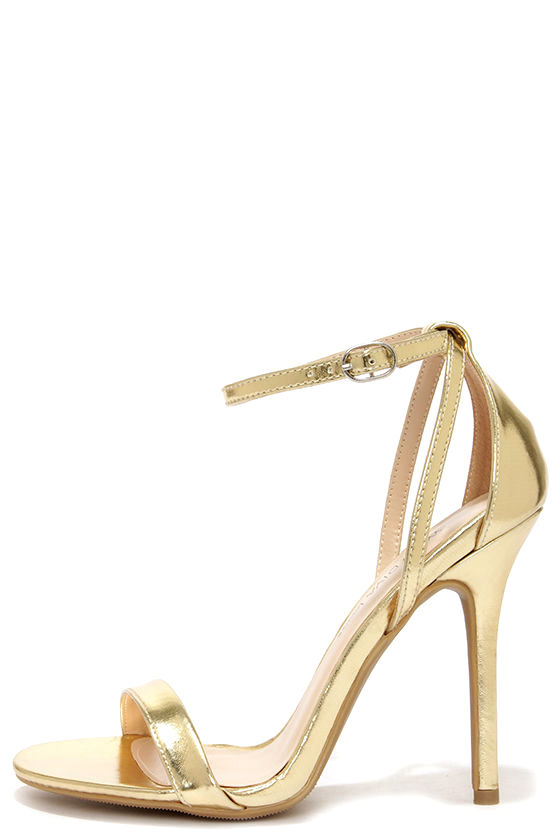 Gold Heels With Ankle Strap FblWJqt8