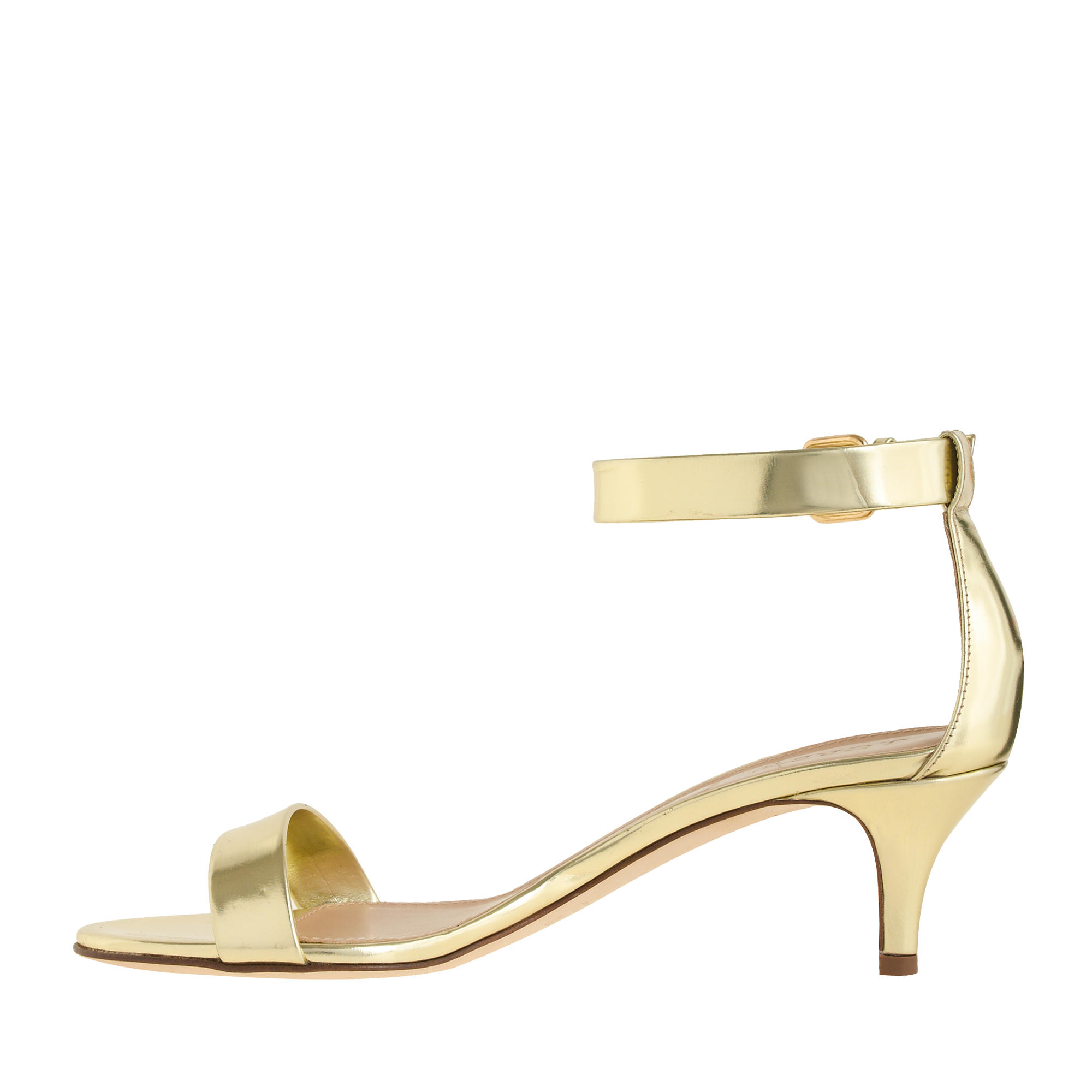 Gold Kitten Heel Sandals NacbO9EH
