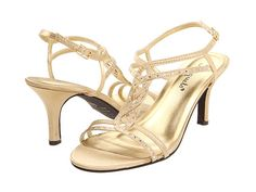 Gold Low Heel Wedding Shoes HTzNpt0f