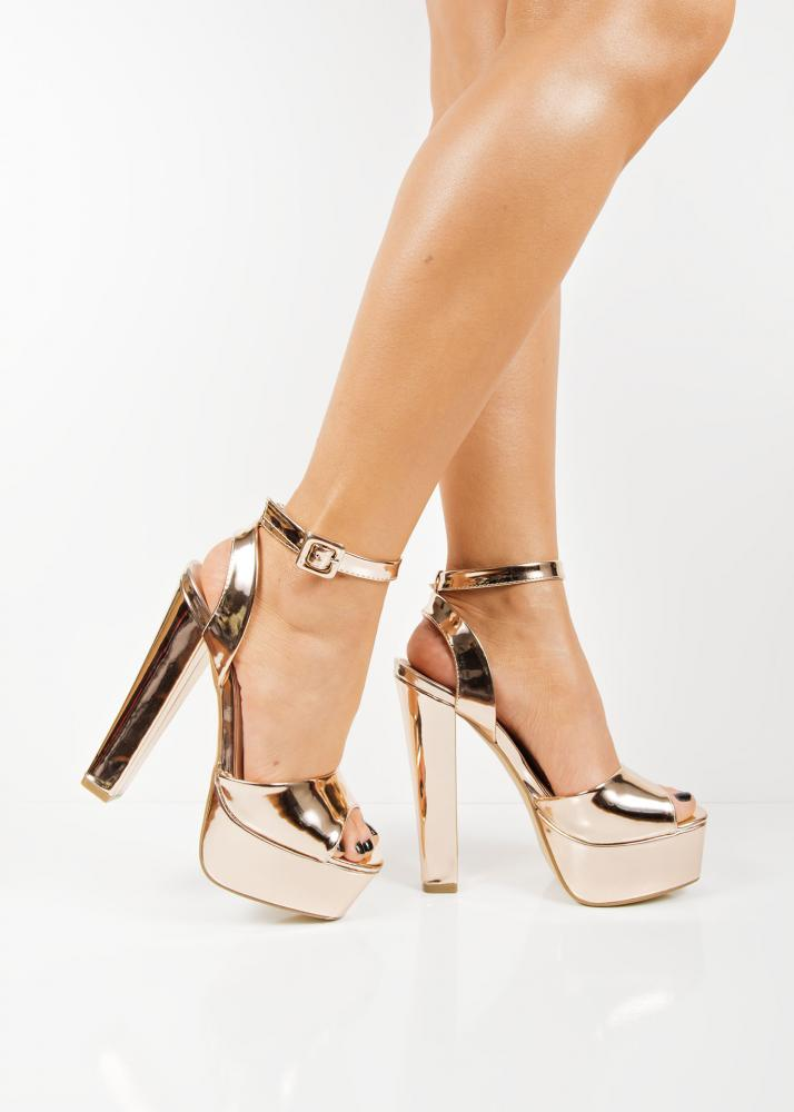 Gold Metallic High Heels sWtILuyK