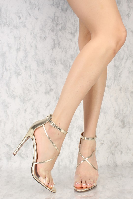 Gold Metallic High Heels NXnmRY3p