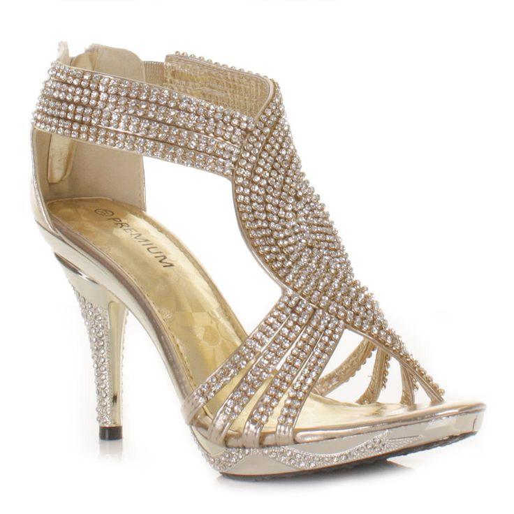 Gold Prom Heels B9Cnf76E