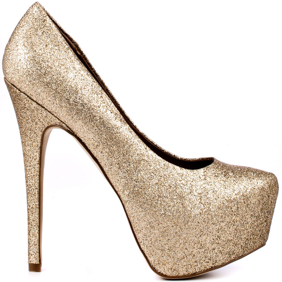Gold Shimmer Heels Co0jessZ