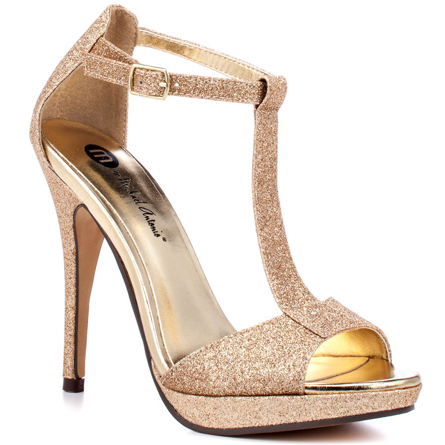 Gold Shimmer Heels Bfngow6c