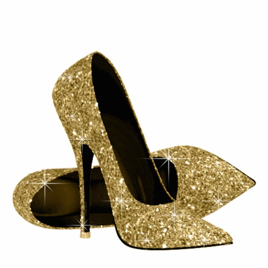 Gold Sparkly High Heels mFgDKDyz