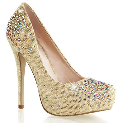 Gold Sparkly High Heels KpsaI1a8