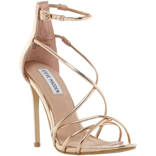 Gold Strappy High Heels KUE4n343