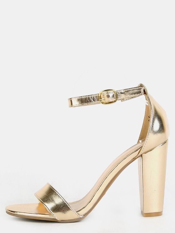 Gold Thick Heels IFKMaDS6