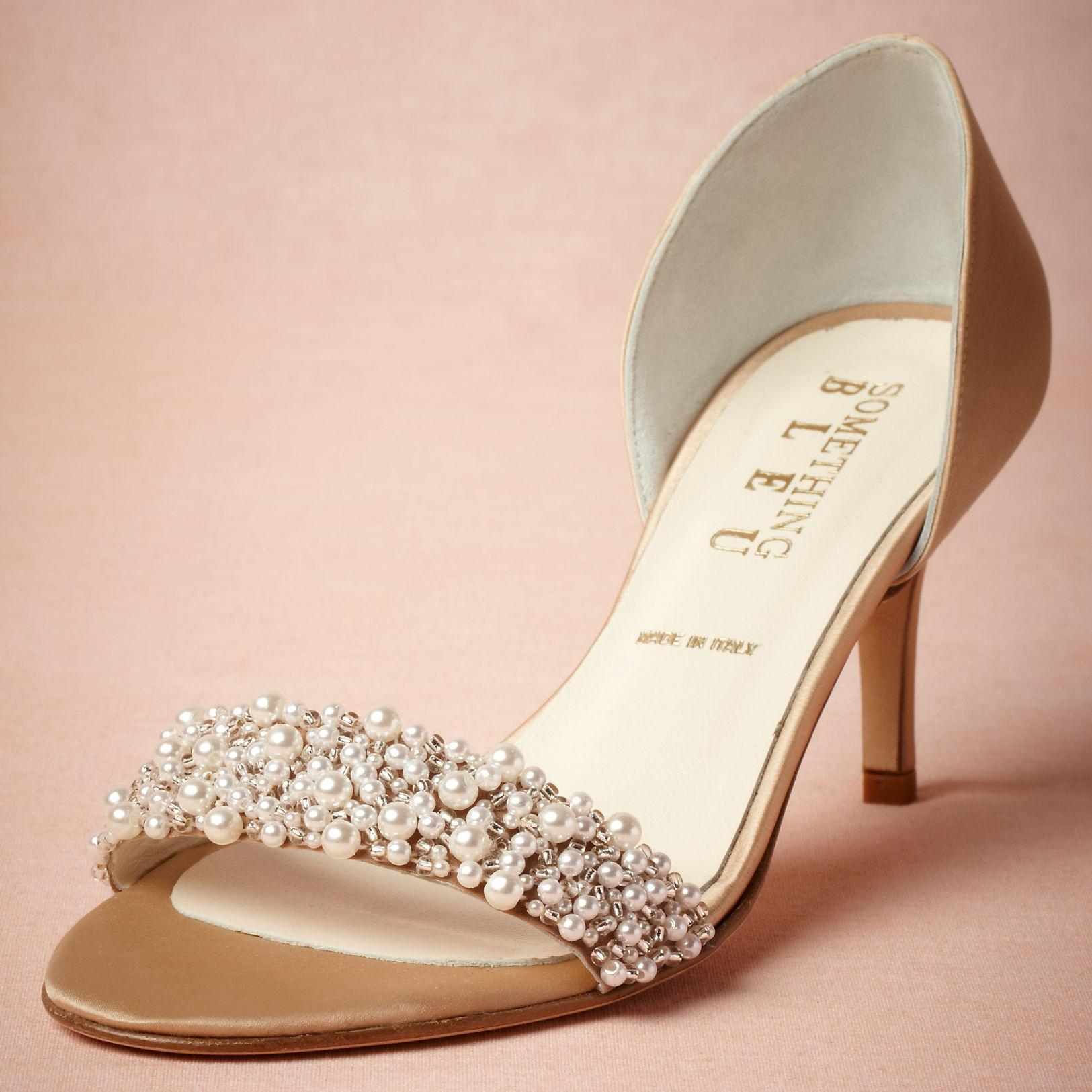 Gold Wedding Shoes Low Heel HvgM31MC