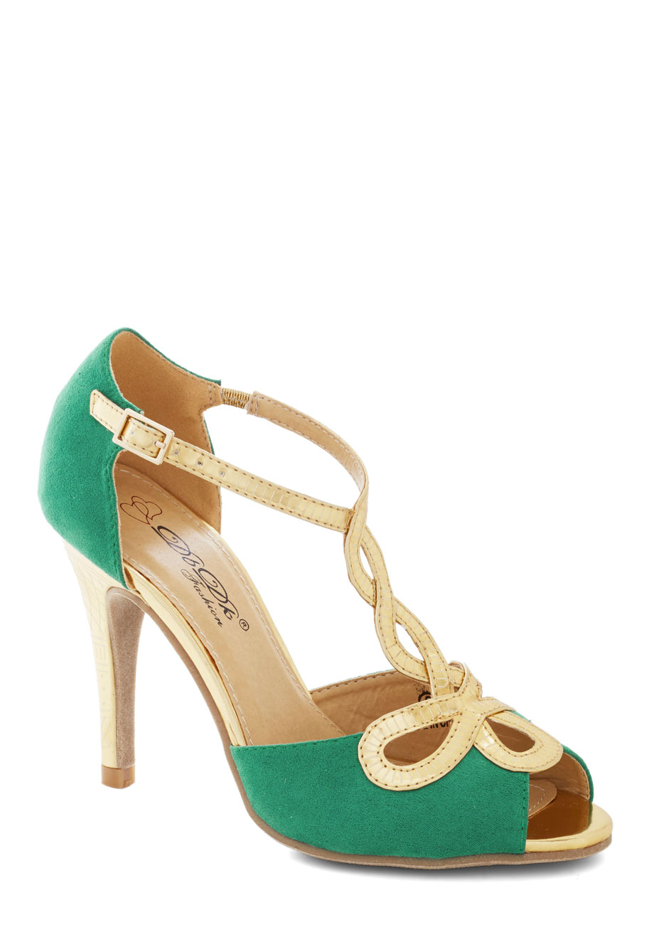 Green And Gold Heels ccQhXDJS