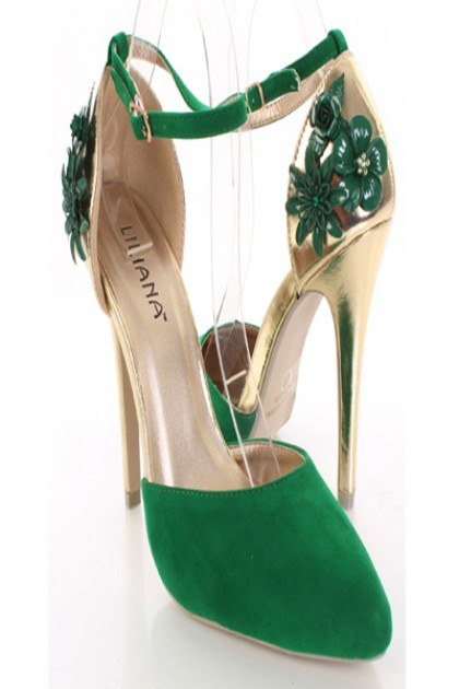 Green And Gold Heels dSLZZUIS