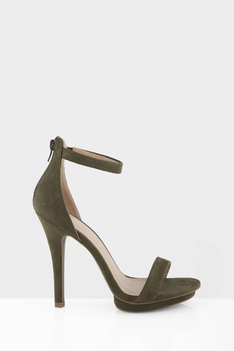 Green Ankle Strap Heels pCEiRznM