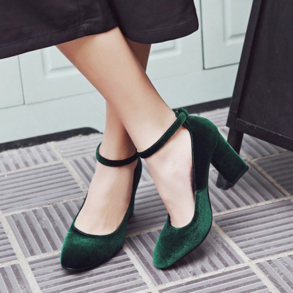 Green Ankle Strap Heels tFvJaul9