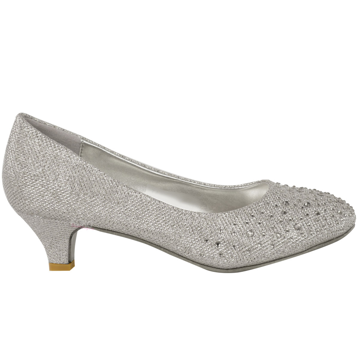Grey Kitten Heel Pumps moiFyW2U