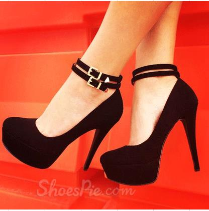 High Heel Ankle Strap Shoes t18LZf3X
