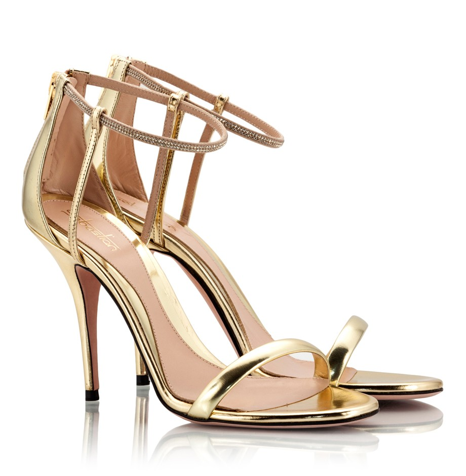 High Heel Gold Sandals P25Q9FUp