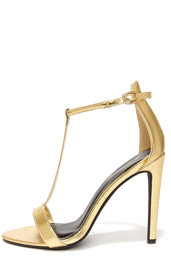 High Heel Gold Sandals uhzEZoP1