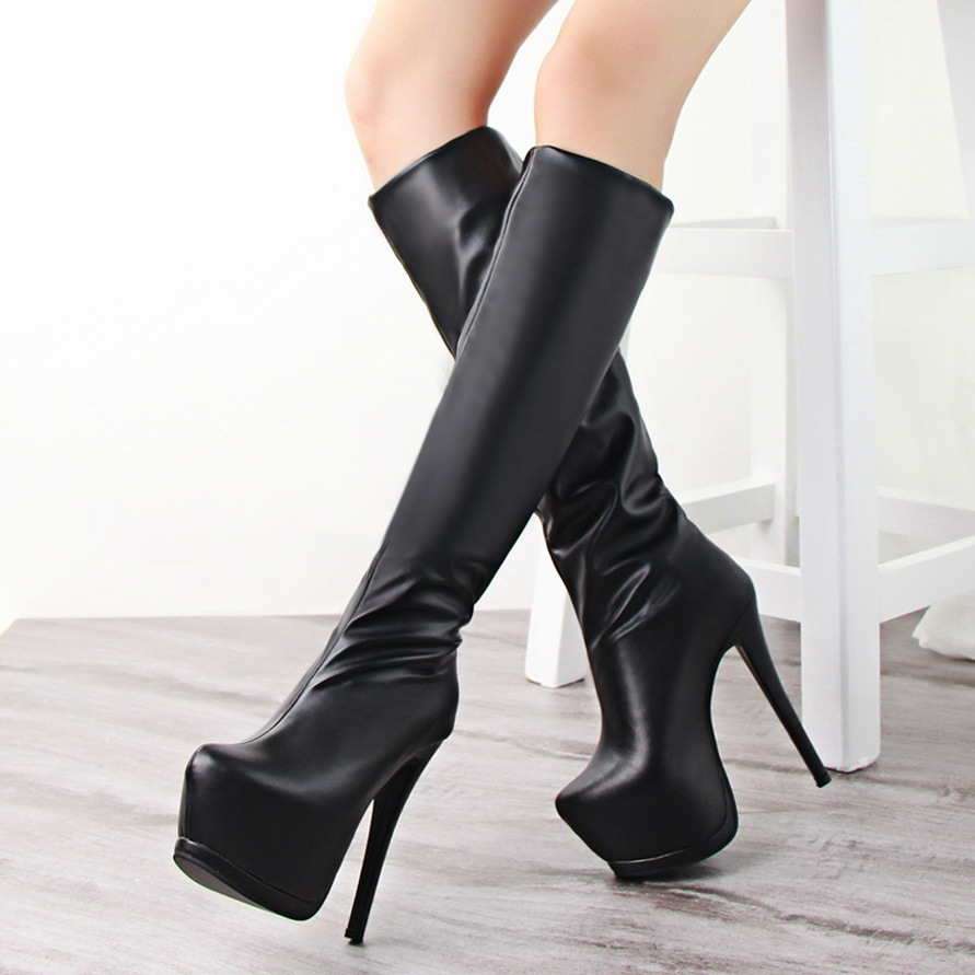 High Heel Platform Booties upOwetI6