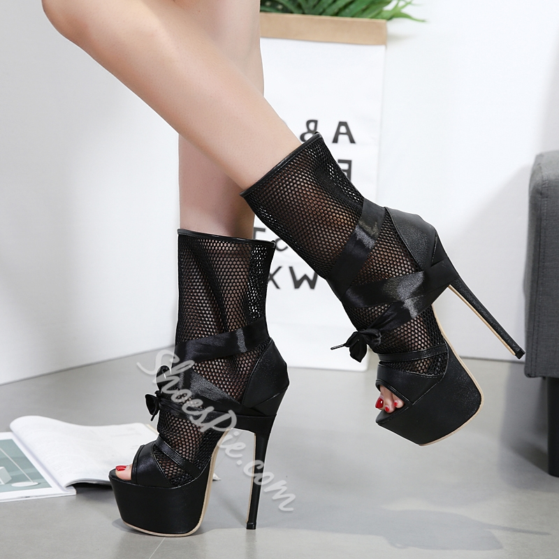 High Heel Platform Booties Jlav0Kwj