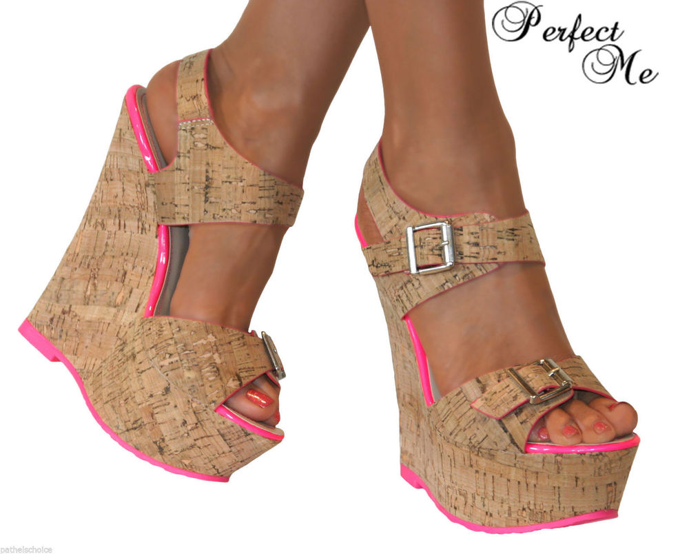 High Heel Wedge Sandals l34MBfpw