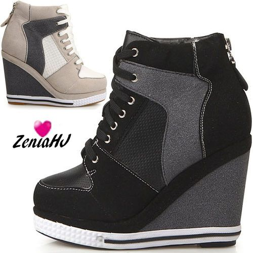 High Heel Wedge Sneakers 1CNQDbBP