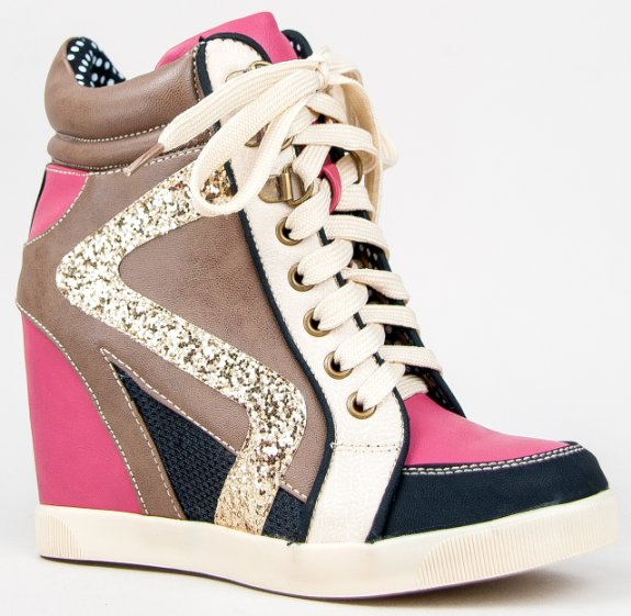 High Heel Wedge Sneakers QpdxHKax
