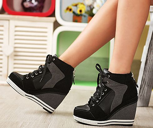High Heel Wedge Sneakers nuARentE