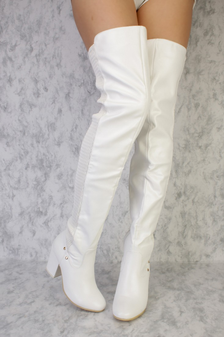 High Heel White Boots Wgmr1Bwq