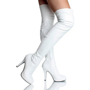 High Heel White Boots SyuzikVu