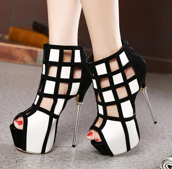 High Heels Black And White rret3tUK