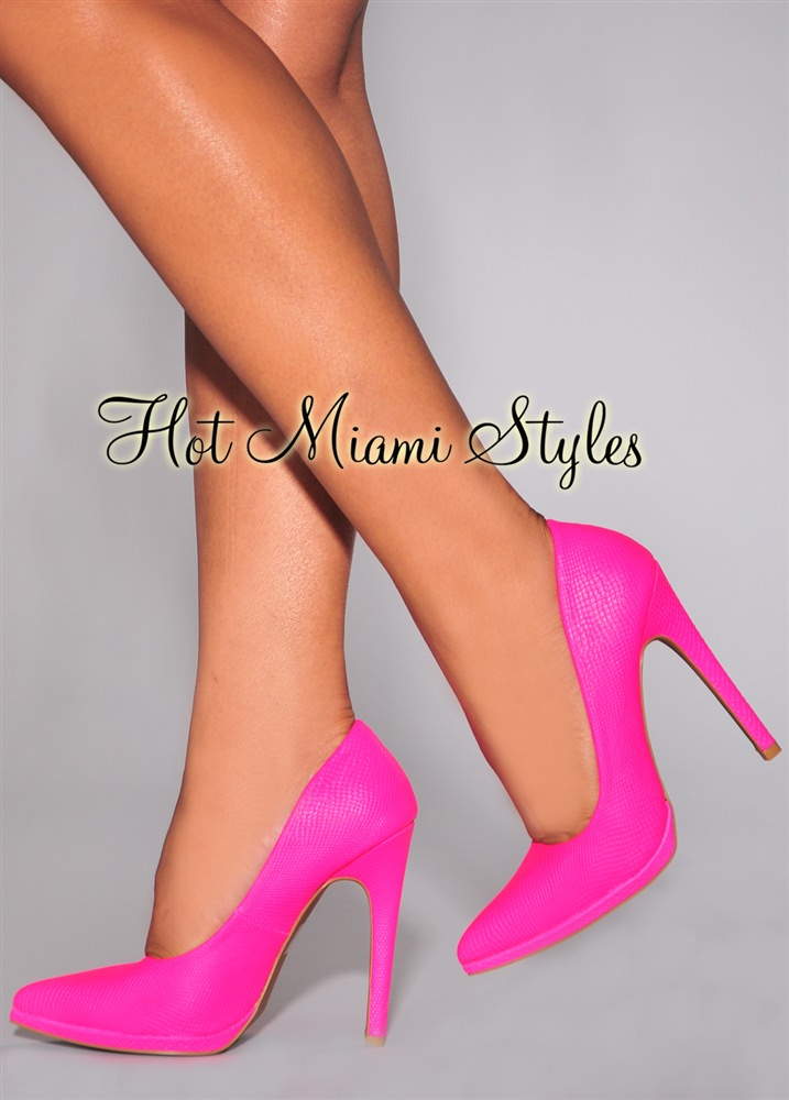 Hot Pink High Heel Shoes LYgdmufH