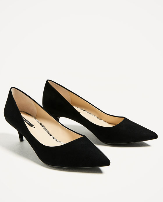 Kitten Heel Black Shoes KzuxVII5