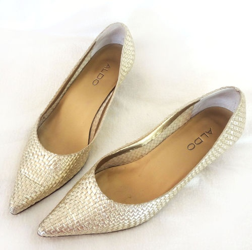 Kitten Heel Gold Shoes vGOee2h8