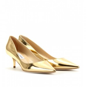 Kitten Heel Gold Shoes 08LsbBsw