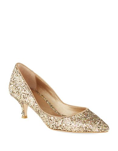 Kitten Heel Gold Shoes UveuX3tO