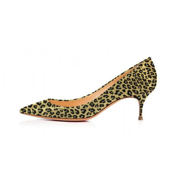 Kitten Heel Leopard Print Shoes jMOBCIfK