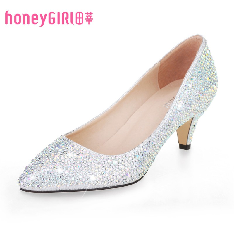 Kitten Heel Silver Shoes mYQcPCMT