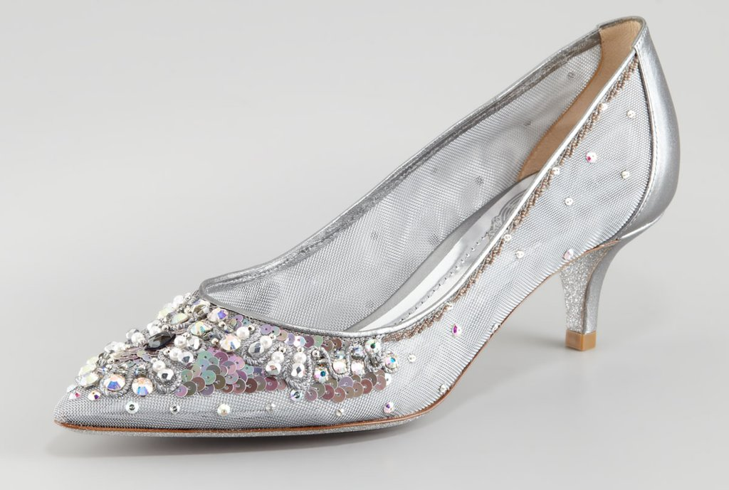 Kitten Heel Silver Shoes Op8CztTL