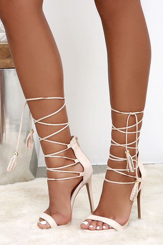 Lace Nude Heels ABbIgZ9K