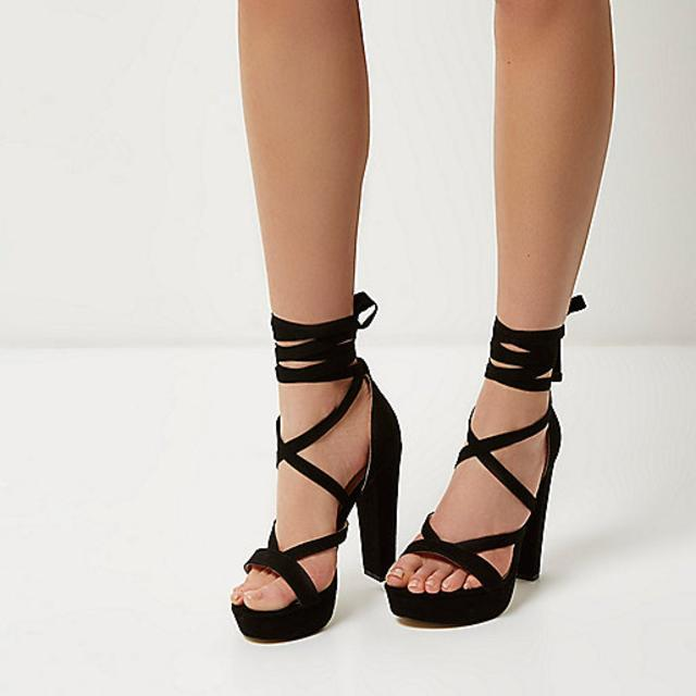 Lace Tie Up Heels QvxCvTHk