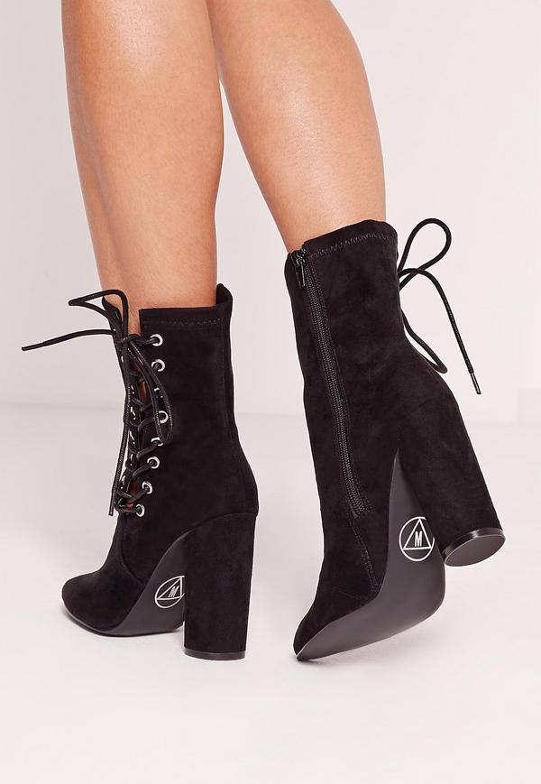 Lace Up Ankle Boots Heels zK7YvXHn