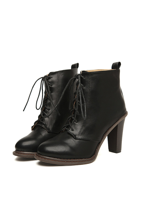 Lace Up Ankle Boots With Heel xmr4VTMQ