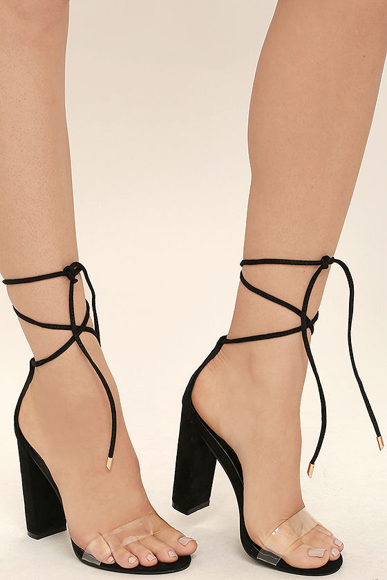 Lace Up Black Heels xXrvdy2J