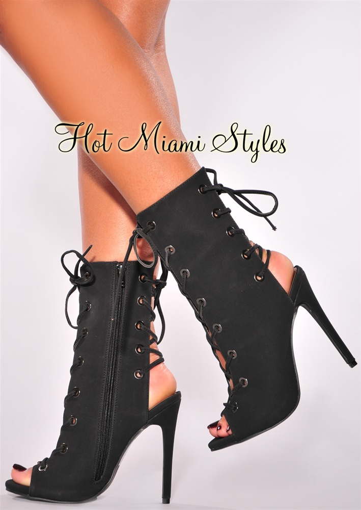 Lace Up Boot Heels mbJ54Cqr